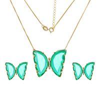Imagem de Conjunto borboleta com pedra - 1101022 - Cores