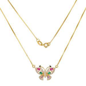 Imagem de Corrente borboleta pedras coloridas - 0305281