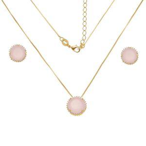 Imagem de Conjunto pedra natural rosa leitoso - 1101010
