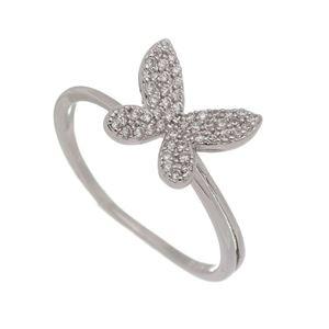 Imagem de Anel borboleta com pedras zircônia - 0106911