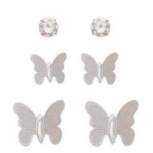 Imagem de Brinco trio borboletas e pedra strass - 0523726