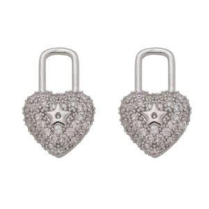 Imagem de Brinco cadeado coração com zircônia - 0523595