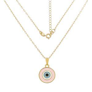 Imagem de Corrente olho grego rosa claro; 40cm - 0305091