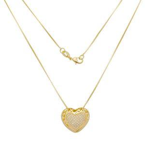 Imagem de Corrente coração com pedras zircônia - 0305314