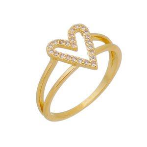 Imagem de Anel coração com pedras zircônia - 0106922