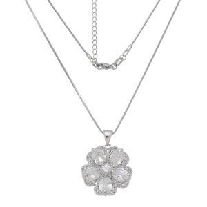 Imagem de Corrente flor com pedras zircônia - 0305377
