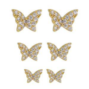 Imagem de Brinco trio borboleta zircônia - 0523730