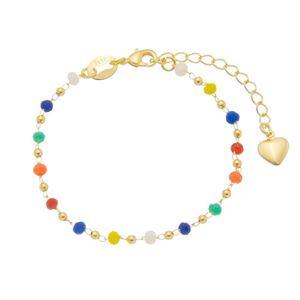 Imagem de Pulseira com bolas e pedras coloridas - 0405508
