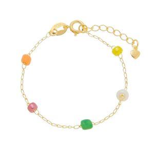 Imagem de Pulseira infantil com pedras coloridas - 0405517