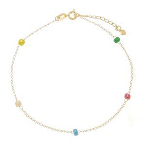 Imagem de Tornozeleira com pedras coloridas - 0405518