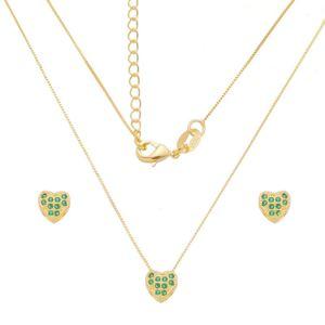 Imagem de Conjunto coração zircônia verde; 0,6cm - 1101050