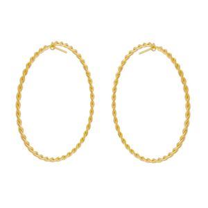 Imagem de Brinco argola fio torcido; 4,6cm - 0523752