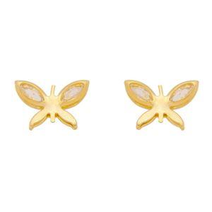 Imagem de Brinco borboleta com pedras zircônia - 0523685