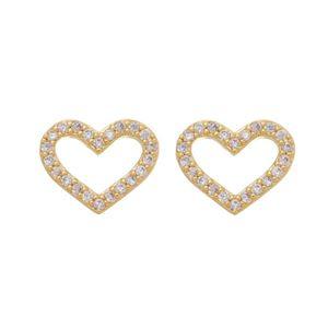 Imagem de Brinco coração vazado com zircônia - 0523825