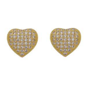 Imagem de Brinco coração com pedras zircônia - 0523822