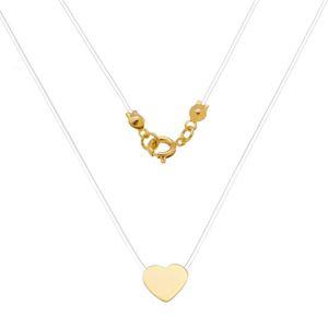 Imagem de Corrente silicone com coração;40cm - 0304947