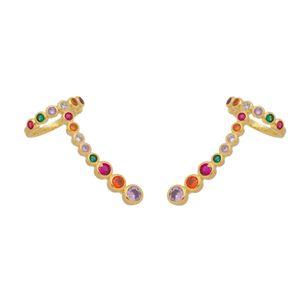 Imagem de Brinco ear cuff pedras zircônia - 0523829 - Cores