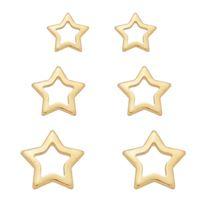 Imagem de Brinco trio estrela vazada - 0523832