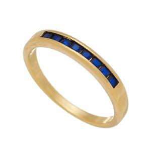 Imagem de Anel pedras carrê zircônia azul - 0106945
