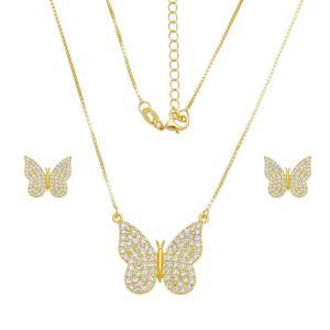 Imagem de Conjunto borboleta pedras zircônia - 1101028