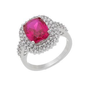 Imagem de Anel pedra oval natural pink e zircônia - 0106951