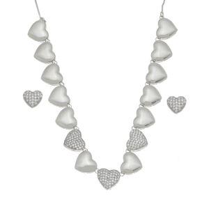 Imagem de Conjunto coração pedras zircônia  - 1101067