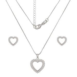 Imagem de Conjunto coração pedras zircônia  - 1101036