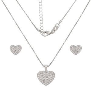 Imagem de Conjunto coração pedras zircônia  - 1101037