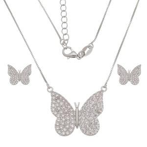 Imagem de Conjunto borboleta pedras zircônia  - 1101038
