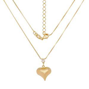 Imagem de Corrente veneziana com coração; 40cm - 0305514