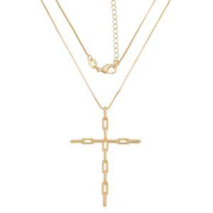 Imagem de Corrente veneziana com cruz; 40cm - 0305532