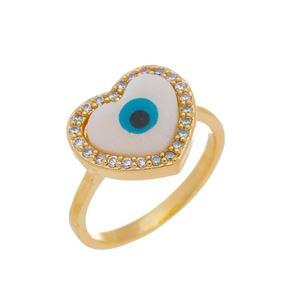 Imagem de Anel olho grego coração madrepérola - 0106958