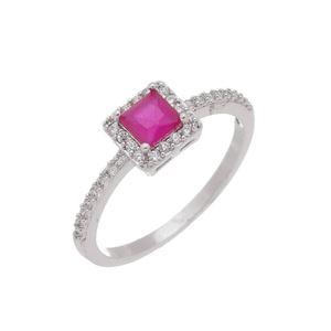 Imagem de Anel pedras cravejadas zircônia - 0106964 Pink