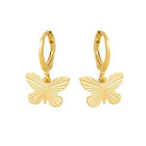 Imagem de Brinco argola borboleta trabalhada - 0524291