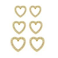 Imagem de Brinco trio coração vazado zircônia - 0524222