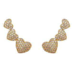 Imagem de Brinco ear cuff coração com pedras - 0524577