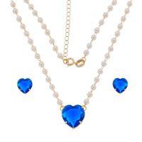 Imagem de Conjunto pedra coração azul - 1100211