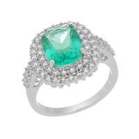 Imagem de Anel pedra oval e zircônia verde claro - 0106951