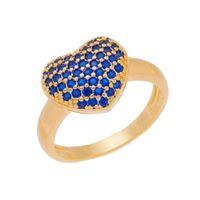 Imagem de Anel coração zircônia azul - 0106959