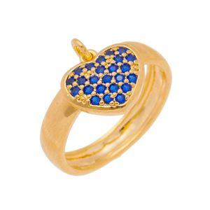 Imagem de Anel coração zircônia azul - 0106957