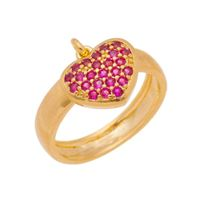 Imagem de Anel coração zircônia pink - 0106957