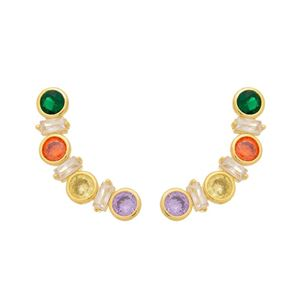 Imagem de Brinco ear cuff  colorido zircônia - 0524228