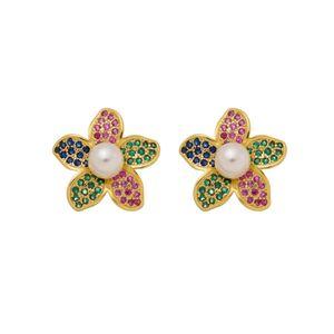 Imagem de Brinco flor com pérola zircônia - 0524255